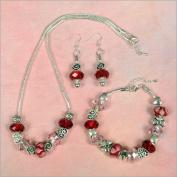 My Favourite Beads 135146 Pandora Style Valentines Day Wish 3 Piece Set