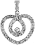 Doma Jewellery MAS01899 Sterling Silver Heart Pendant with CZ