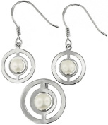 Doma Jewellery MAS01446 Sterling Silver and Freshwater Pearl Earring and Pendant Set
