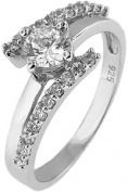 Doma Jewellery MAS02172-6 Sterling Silver Ring with Cubic Zirconia - Size 6