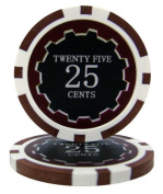 Bry Belly CPEC-25c 25 Roll of 25 - Eclipse 14 Gramme Poker Chips - .25 & cent; - cent
