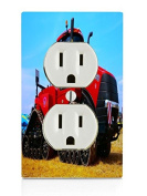 Case Tractor Electrical Outlet Plate