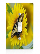 Butterfly on sunflower Light Switch Plate