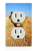 Farming Electrical Outlet Plate