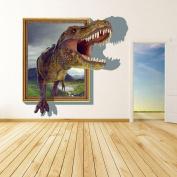 Fange DIY Removable 3D Running Tyrannosaurus Rex Dinosaur Unique Art Mural Vinyl Waterproof Wall Stickers Living Room Decor Bedroom Decal Sticker 90cm x 60cm