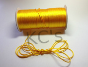 50 Yards - 2mm Light Gold Satin Rattail Cord Chinese/china Knot Rat Tail Jewellery Braid 100% Polyester