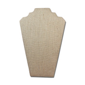 2 of Linen Covered Padded Wood Necklace Display With Easel 21cm W x 32cm H