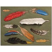 Feathers Craftaid Leather Design Pattern Template Leathercraft Tandy 76631-00