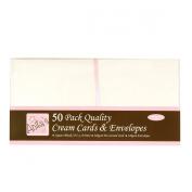 docrafts Anita's Square Cards/Envelopes, 13cm by 13cm , Cream, 50-Pack