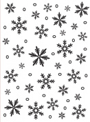 Darice 1215-58 Embossing Folder, 11cm by 15cm , Snowflake Background Design