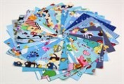RayLineDo® 30pcs blue series fabric cotton 100% printed boundle patchwork squares of 10*10cm