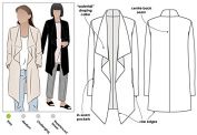 Style Arc Sewing Pattern - Estelle Ponte Jacket (Sizes 18-30) - Click for Other Sizes Available
