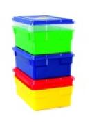 School Smart 16 L x 6 D x 11 W in. Storage Box With Lid Yellow