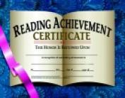 Hayes 22cm x 28cm . Reading Achievement Certificate Pack 30