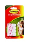 Command Damage-Free Poster Hanging Strip Small White Pack - 12