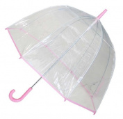Conch Umbrellas 1265AXPink Bubble Clear Umbrella Dome Shape Clear Umbrella
