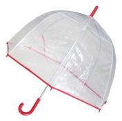 Conch Umbrellas 1265Red Bubble Clear Umbrella Dome Shape Clear Umbrella