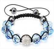 Best Desu 17080 Shambala-Style Crystal Bracelet Aquamarine