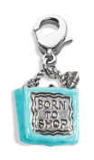 Whimsical Gifts 1942S Born to Shop Bag Charm Dangle in Silver