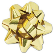 Deluxe Small Business Sales 256-01116-15M 3.2cm . Jewellers Star Bows Metallic Gold