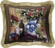 FineArtTapestries 2273-P Red Roses With Wine Pillow