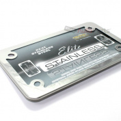 Cruiser Frames Chrome Motorcycle Licence Frame - Stainless Steel