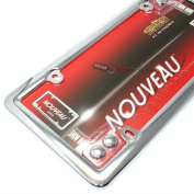 Cruiser Frames Licence Plate Frame - Chrome Metal With Caps
