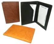 Leather In Chicago CC-920BRN Leather Card Case with Inside Window for Id brown