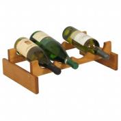 Wooden Mallet WR41MO 4 Bottle Dakota Wine Rack