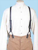 Scully 540775-BLK-ONE Mens Wah Maker Leather Braided Suspender - Black One Size