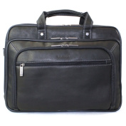 Heritage Travelware 826565 Black Colombian Leather Double Gusset EZ Scan Portfolio & Computer Case