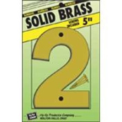 Hy-Ko Products 4323184 Number 2 13cm . Decorative Brass Number