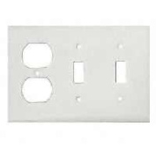 Cooper Wiring 2158W-BOX 3 - Gang Toggle & Duplex Receptacle Plate White