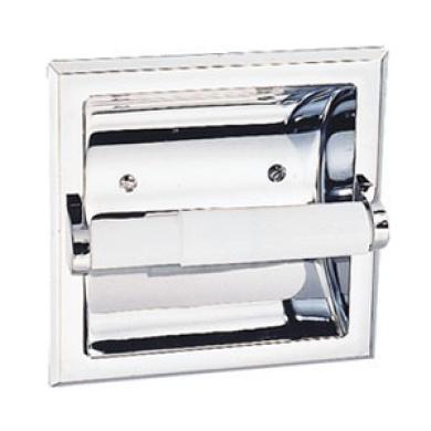 Design House 533125 Millbridge Recessed Toilet Paper Holder Polished Chrome Finish