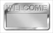 B & H Publishing Group 466086 Badge Welcome Cut Out Letters Magnetic Silver
