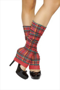 Roma Costume 14-LW104-AS-O-S Leg Warmer One Size - Red Plaid