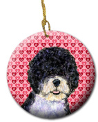 Carolines Treasures SS4490CO1 7.1cm x 7.1cm . Portuguese Water Dog Ceramic Ornament