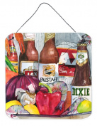 Carolines Treasures 1017-1DS66 New Orleans Beers And Spices Aluminium Metal Wall Or Door Hanging Prints