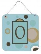 Carolines Treasures CJ1013-ODS66 Letter O Initial Monogram - Blue Dots Aluminium Metal Wall or Door Hanging Prints