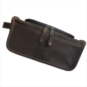 Canyon Outback Leather CS449-44 Taylor Falls Leather Toiletry Bag Distressed Brown