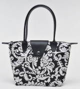 Joann Marrie Designs NF1DMK Small Fold-Up Bag - Damask Pack of 2