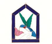 Gift Essentials GE121 Small Hummingbird Purple Steeple Frame Window Panel