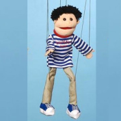 Sunny Toys WB1661 60cm . Black Haired Boy Marionette People Puppet