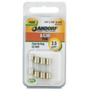 Jandorf Specialty Hardw Fuse Agw 2.5A Fast Acting 60645