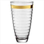 Majestic Gifts E64425-US Baguette 30cm . Gold Band High Quality Glass Vase