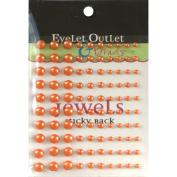 Eyelet Outlet EOB3-ORG Bling Self-Adhesive Pearls Multi-Size 100-Pkg-Orange