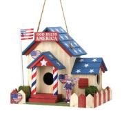 Zingz & Thingz 57070917 God Bless America Birdhouse with Patriotic Charm