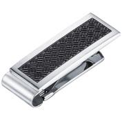 Visol VMC729 Winston Stainless Steel Engravable Money Clip