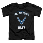 Air Force-Property Of - Short Sleeve Toddler Tee Black - Medium 3T