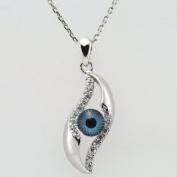 Evil Eye Ring & Cubic Zirconia Evil Eye Pendant with 46cm Chain & Ring Set
